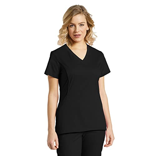 4d867c0ffe2a6 Scrubs Tops Black and White: Amazon.com