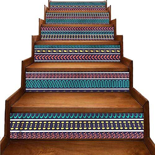 JiuYIBB - Adhesivo extraíble para decoración del hogar, diseño de rayas