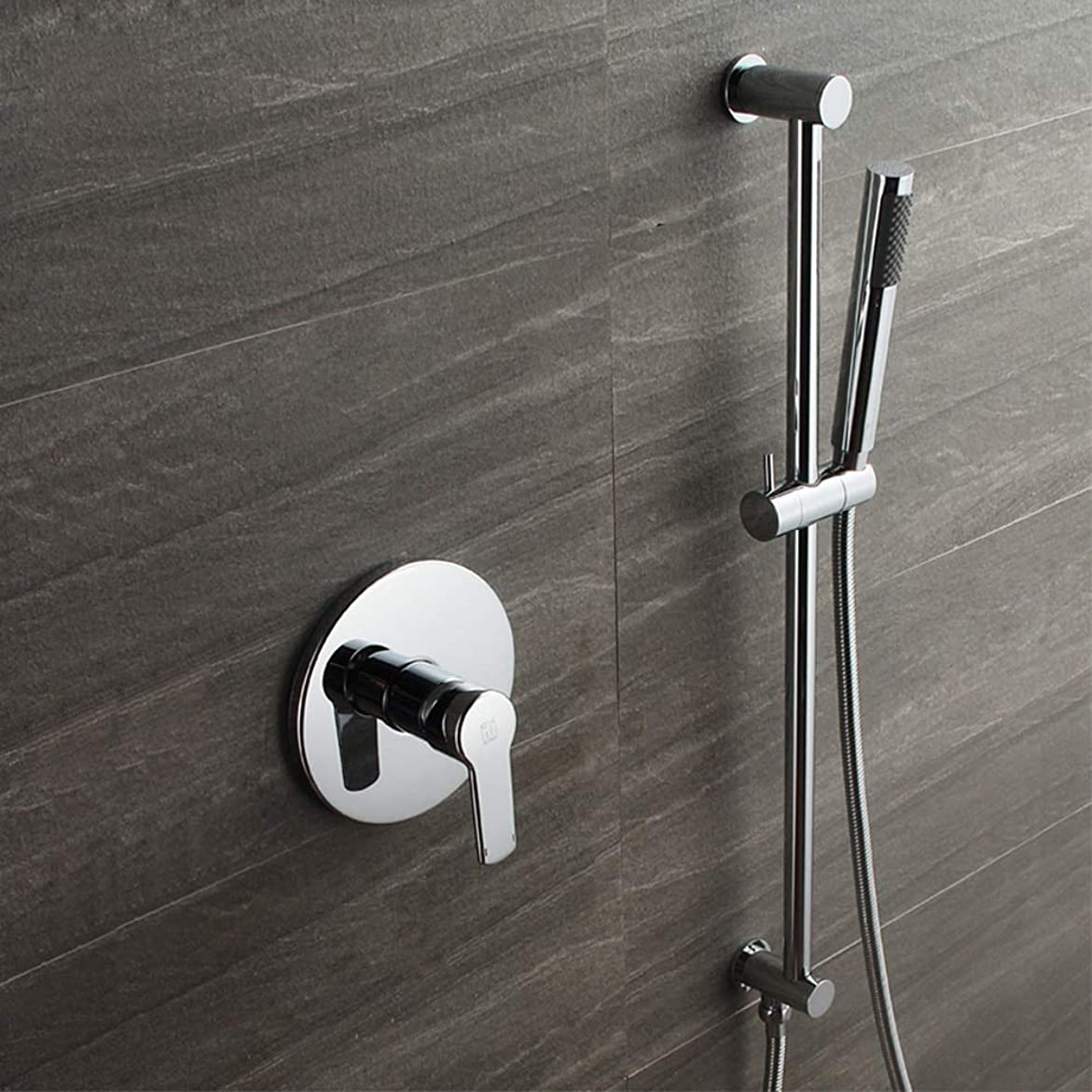 鉄道オーバードロー芝生ZXY-NAN システムバス 耐久性を設定シャワーリフトバーダークの中へ壁と事前組み込みシャワーの蛇口シャワー付シングルファンクション シャワー 降雨 取付簡単 シャワーヘッド ホース セット