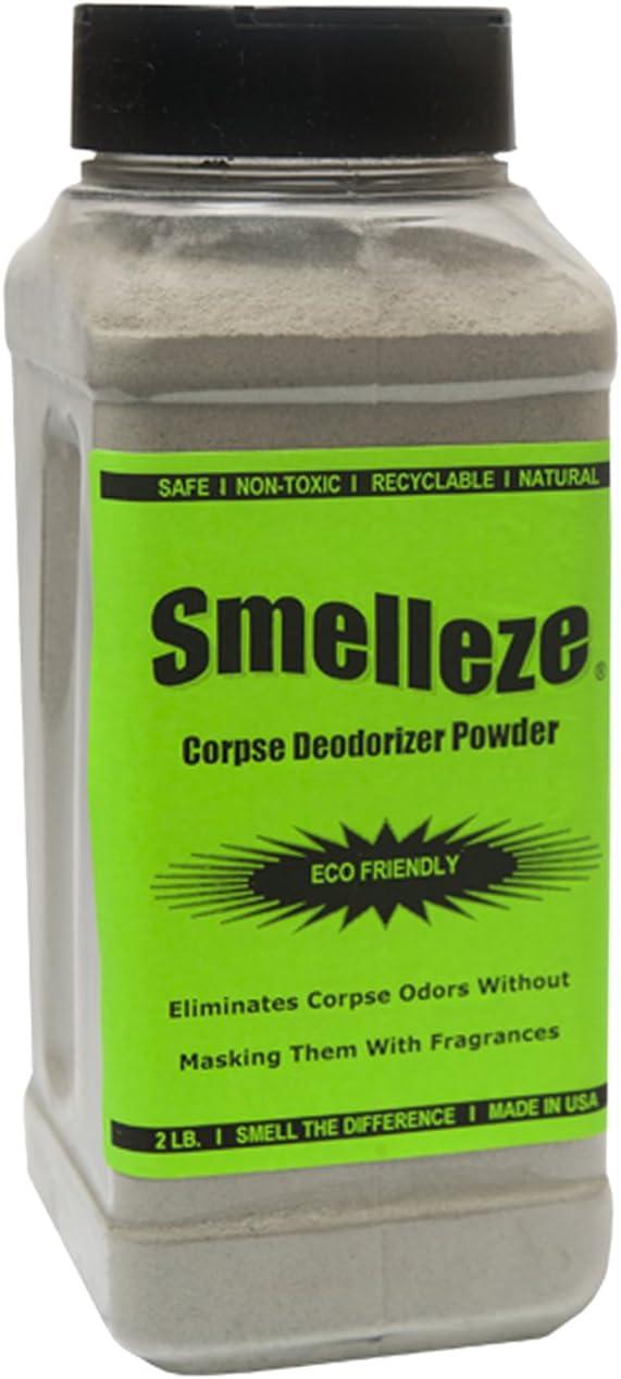SMELLEZE Natural Corpse Odor Eliminator Powde Deodorizer: Manufacturer OFFicial Large discharge sale shop 50 lb.