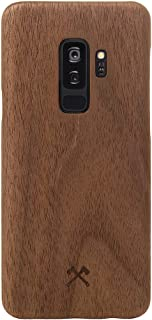 Woodcessories - Case Compatible with Samsung Galaxy S9 Plus of Real Wood, EcoCase Slim Series (Walnut)