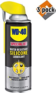 WD40 Company 300012 Specialist Silicone Spray Smart Straw - 11 oz. - 3 Pack
