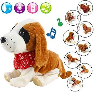deAO Mascota Interactiva Perrito Robot Inteligente Juguete Electrónico con Ladridos, Movimientos, Música y Sensor al Tacto