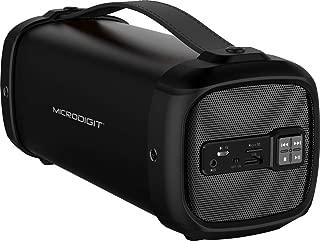 Microdigit Bluetooh Portable Drum Speaker for Multi, Black - M0060RT