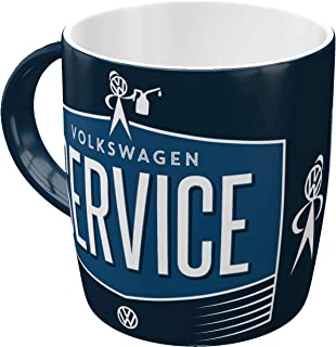 Nostalgic-Art 43034, Volkswagen VW Service & Repairs, Tasse Taza, cerámica, carbón, 8.5 x 13 x 9 cm
