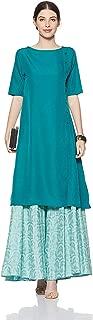 Generic Crepe Kurta (Dress 03_Blue_Xxxx-Small)