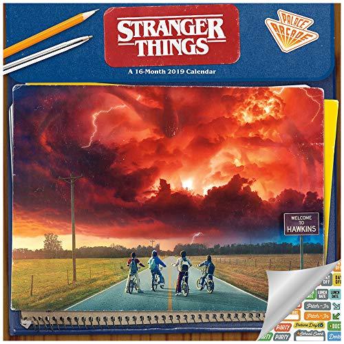 Stranger Things Calendar 2019 Set - Deluxe 2019 Stranger Things Wall Calendar with Over 100 Calendar Stickers (Stranger Things Gifts, Office Supplies)
