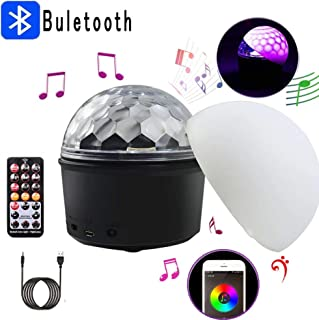 UV Luces Discoteca Giratoria de 360 ​​° ,UKing USB Party Lights con Control Remoto y Control de Sonido,Admite Carga Bluetooth, Mini Disco Ball para Fiesta de Pub Boda