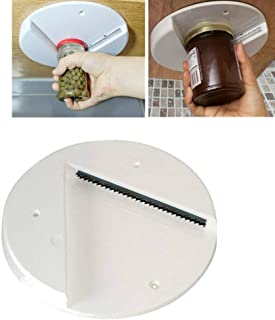 Tpingfe Jar Opener Under Kitchen Cabinet Counter Top Lid Remover Arthritis Can Opener (white)