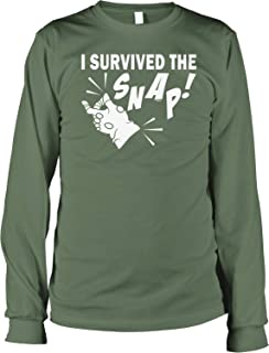 NOFO Clothing Co I Survived The Snap Men's Long Sleeve Shirt