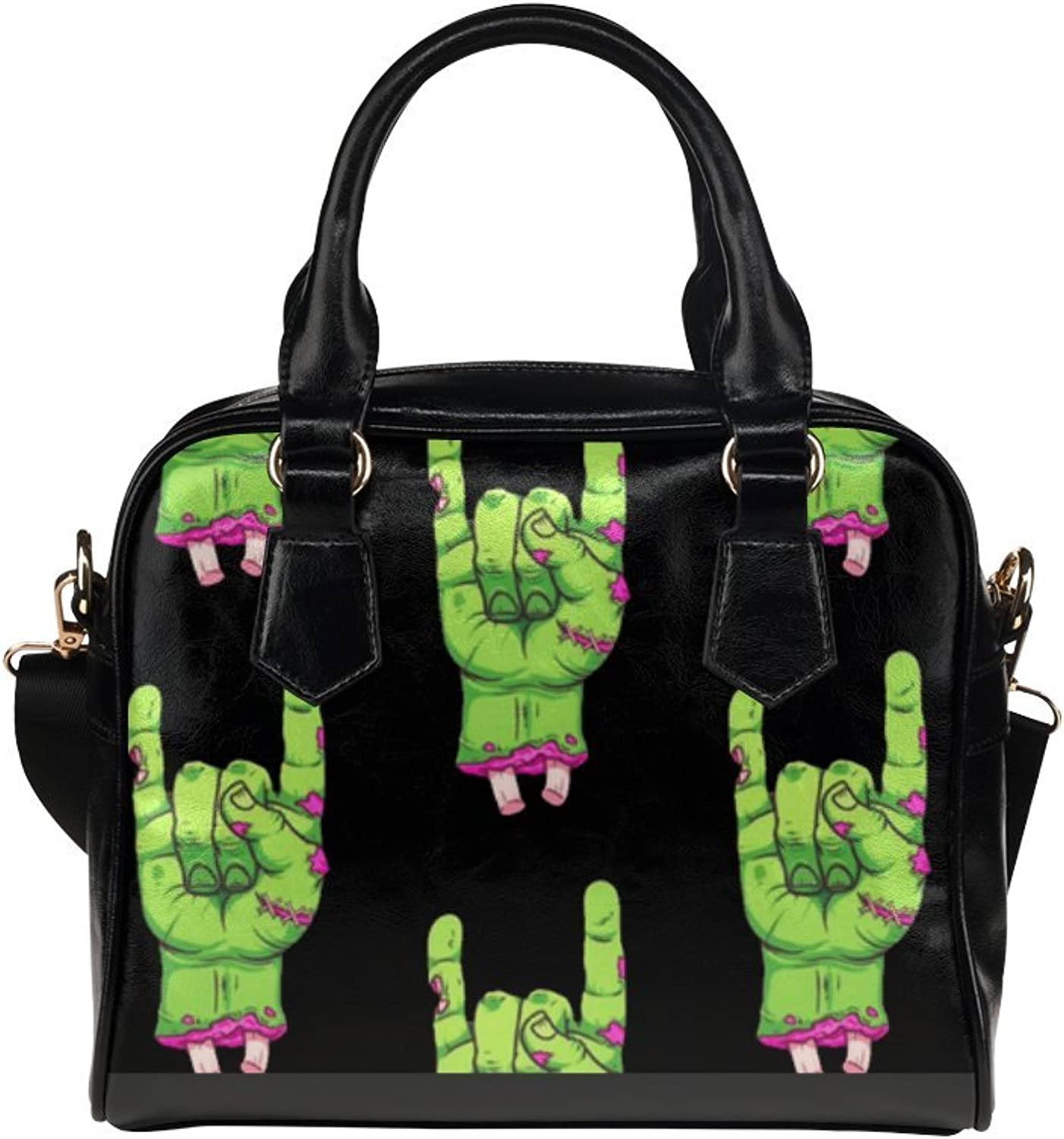 LEINTEREST Zombie Halloween Womens Top Handbag Shoulder Bag