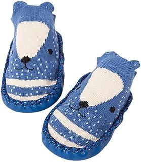 MAYOGO, Bebe Calcetines Cortos Otoño Prewalker para Recien Nacido Antideslizante Zapatillas de Piso Estampado Dibujo Animado Algodón Multicolor 0-2 Años