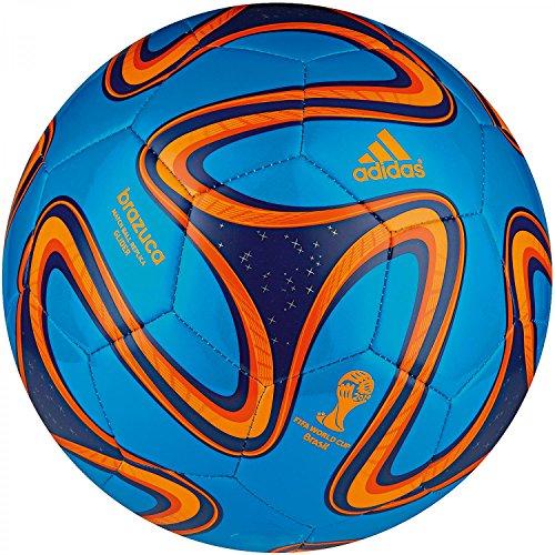 adidas Fußball Brazuca Glider, Solar Blue/Night Blue/Solar Zest, 5, G73630