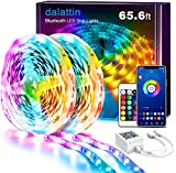 Led Lights for Bedroom Smart 65.6ft Dalattin 2 Rolls of 32.8ft Smart Led Strip Lights Sync to Music Color Changing Lights 5050 with App Control,Remote for Room,Kitchen,Party