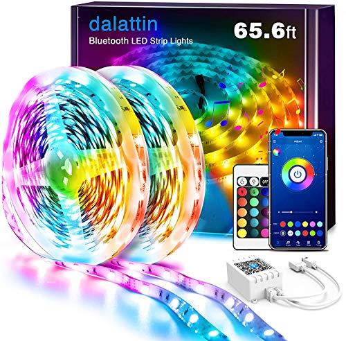Led Lights for Bedroom Smart 65.6ft Dalattin 2 Rolls of...