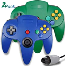 $24 » 2 Packs N64 Controller, King Smart Wired N64 Controllers with Upgraded Joystick for Original Nintendo 64 Console (Blue and Green)