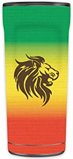 MightySkins Skin Compatible with OtterBox Elevation Tumbler 20 oz - Rasta Lion   Protective, Durable, and Unique Vinyl Decal wrap Cover   Easy to Apply, Remove, and Change Styles   Made in The USA