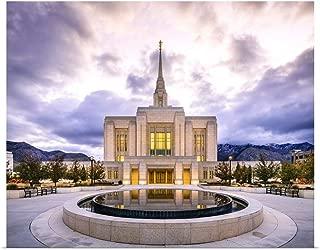 GREATBIGCANVAS Poster Print Ogden Utah Temple, Reflective Morning, Ogden, Utah by Scott Jarvie 14