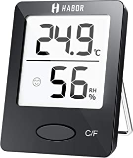 Habor Thermo-Hygrometer, Luftfeuchtigkeitsmessgerät Innen Digitales Thermometer..