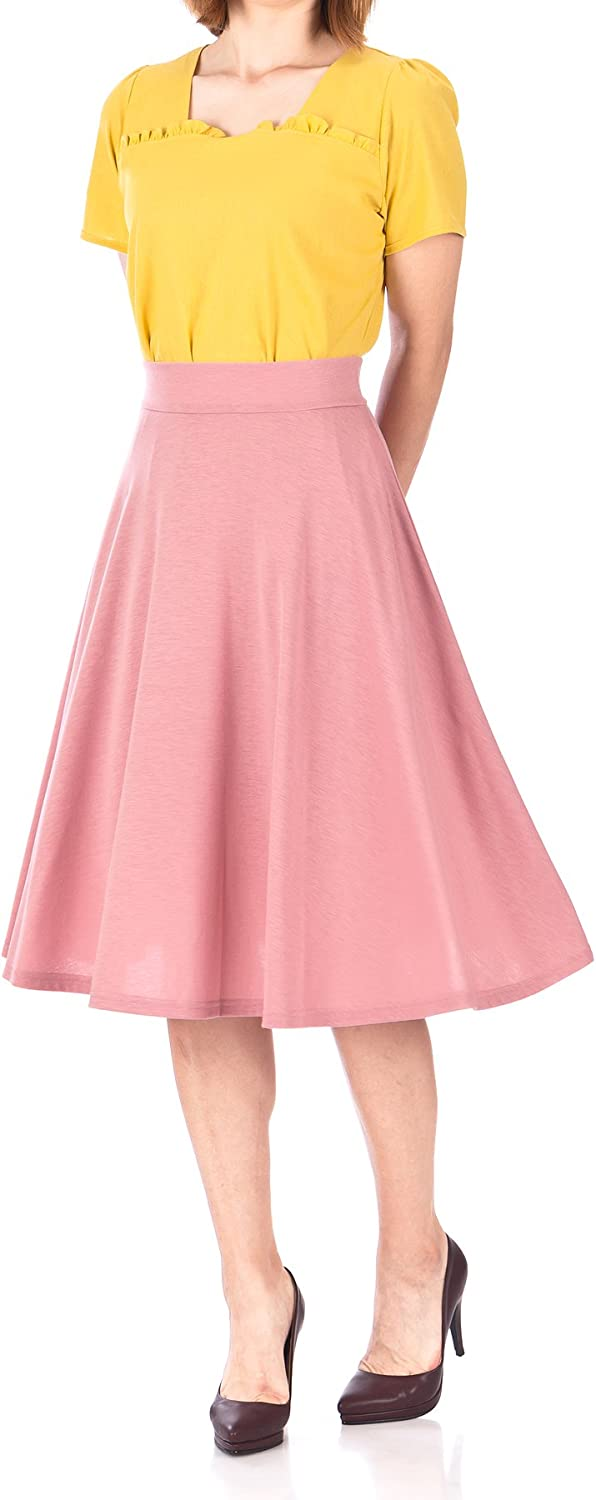 Dani's Choice Beautiful Flowing Aline Flared Swing Midi Skirt