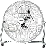 Laptronix High Velocity Floor Standing Cooling Fan Large 18 Inch 46cm 100W Max Power Chrome Fan, Adjustable Heavy Duty 3 Speed Portable Ideal for Home Gym Hydroponic, Office Industrial Rubber Feet