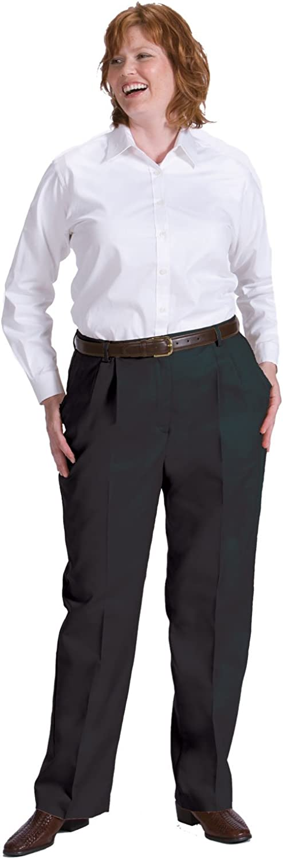 Ed Garments Women's Pleated Zipper Pant, BLACK, 10 UR. 8619