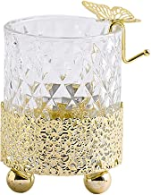 Fenteer Wedding Glass Candle Holder Modern Tealight Candlestick Candleholder Dining Table Centerpiece for Banquet Birthday...