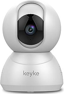 Camara Vigilancia Cámara de Seguridad WiFi 1080p Cámara de Vigilancia Compatible con Alexa Rotación de 360° Visión Nocturna Audio Bidireccional Alerta de Movimiento Servicio de Nube para iOS/Android