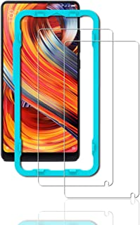 Ibywind Screen Protector for Xiaomi Mi Mix 2 [Pack of 2] 9H Tempered Glass Protector with Back Carbon Fiber Skin Protector,Including Easy Install Kit