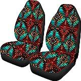 Jiueut Navajo Design - Fundas de asiento de coche para asiento delantero, universal, ajuste para coche, SUV, camión, furgoneta