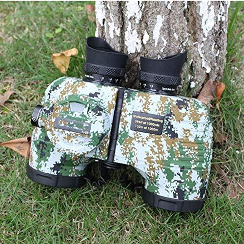 ZXDFG 7X50 HD Fernglas Mit Kompass Und Entfernungsmesser, HD-Nachtsicht Bei Schlechten LichtverhäLtnissen, Wasserdicht FüR Star Gazing Wandern Camping Sightseeing
