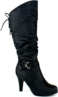 boots with strings black