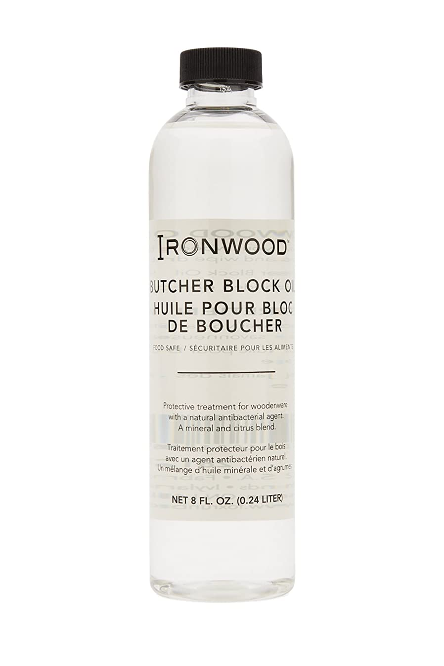 Ironwood Gourmet 28122 Butcher Block Oil, Protective Treatment for Wood, 8-Ounce Bottle