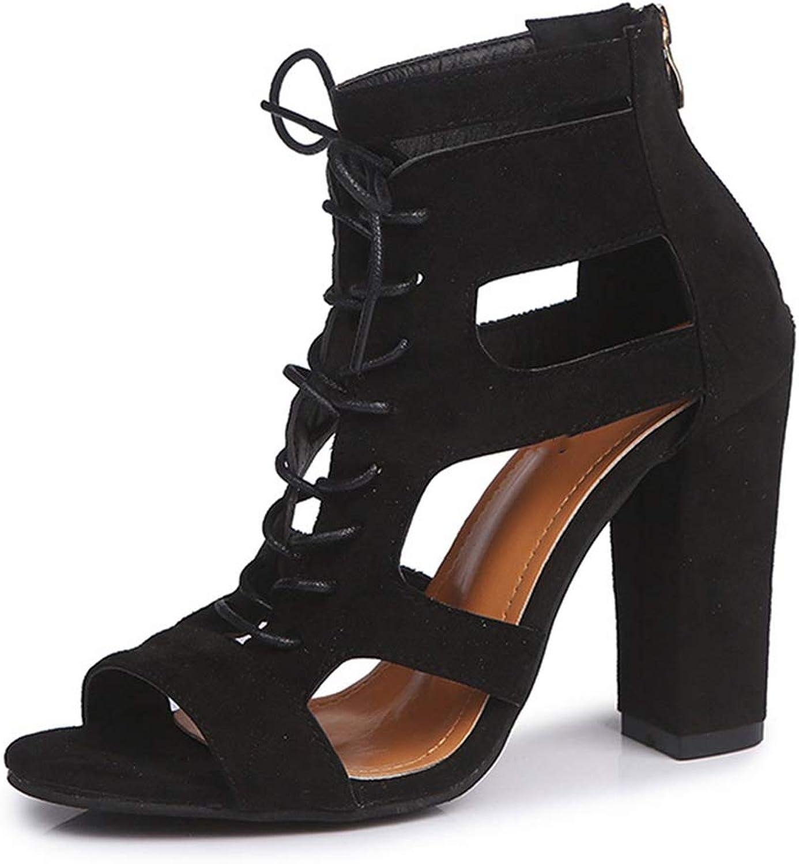 Women Pumps Peep Toe High Heels Sandals for Summer shoes Women Heels Casual Thick Heels