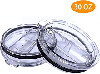 30 oz Tumbler Lids, 2 Pack Spill-Proof Splash Resistant Lids for Tumbler, Fit Yeti, Rtic Rambler, Ozark Trails and More Cooler Cup