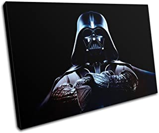 Bold Bloc Design - Star Wars Darth Vader Movie Greats 120x80cm SINGLE Canvas Art Print Box Framed Picture Wall Hanging - Hand Made In The UK - Framed And Ready To Hang
