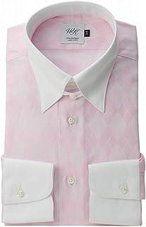 Windsorknot Albert Avenue タブカラー クレリックシャツ ピンク アーガイルドビー 日本製 綿100% (細身) 長袖ドレスシャツ tb4630