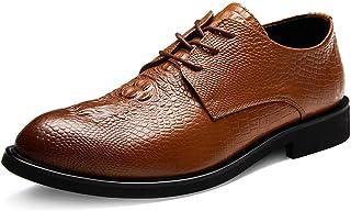 Dingziyue scarpe in pelle con testa rotonda scarpe casual uomo scarpe di cuoio business vestito scarpe (colore : nero, Tag...