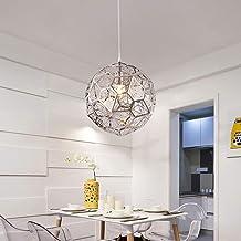Goud Zilver Plafondlamp Hollow Light Rvs Kroonluchter Slaapkamer Dining Woonkamer Restaurant Business Coffee Shop E27 Boll...