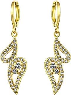 Women's New Exquisite Fashion Jewelry Hot Sale Gold Angel Teardrop Diamond Earring