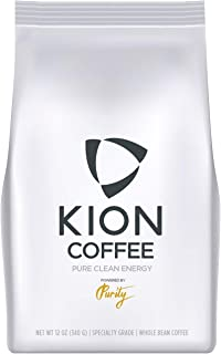 Kion Organic Coffee | Best Tasting, Purest, Highest Antioxidant, Healthiest Whole Bean Coffee | Medium Roast 12 Oz