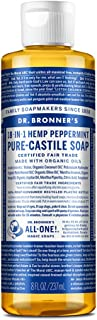 Dr. Bronner's - Pure-Castile Liquid Soap (Peppermint, 8 ounce) - Made with Organic Oils, 18-in-1 Uses: Face, Body, Hair, L...