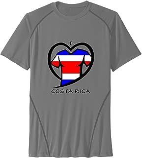 Men's I LOVE COSTA RICA Sport Quick Dry Short Sleeves T-Shirt