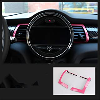 Car Dashboard Central Air Outlet Shell Interior Modification Fits for Mini Cooper F55 F56 F57 2014-2020 (Pink)