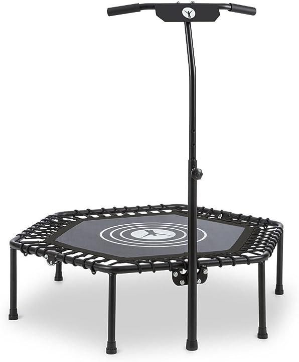 Klarfit jumpanatic - trampolino fitness, trampolino indoor, trampolino da giardino altezza regolabile CSP1-Jumpanatic B