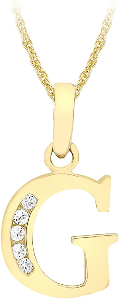Carissima gold collana con pendente da donna in oro giallo 9k (375) con zirconia cubica 1.44.6054