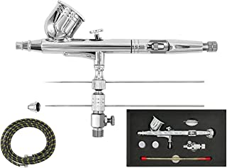 SYWHZ Dual-Action Airbrush Set 0.2 0.3 0.5mm Nozzles and G1/8