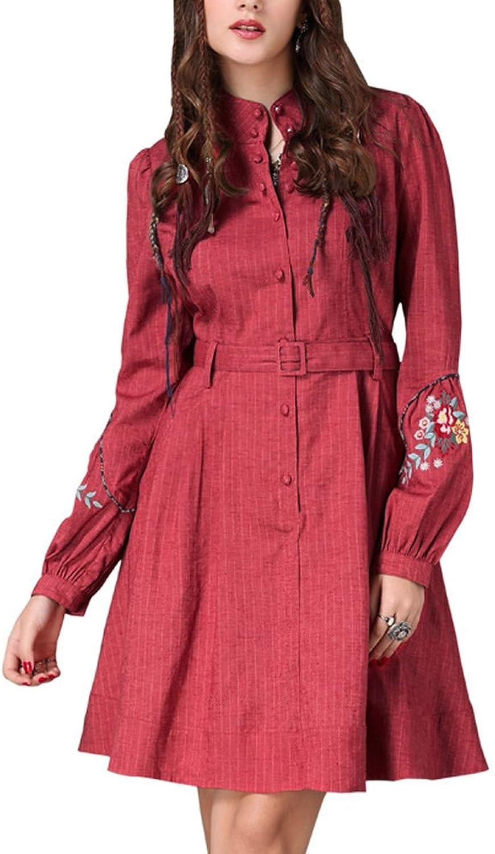 Dissa LHA82067 Women Long Sleeve Midi ALine Retro Summer Dress Party Dress