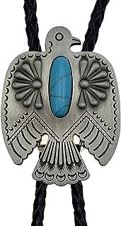 XGALBLA Bolo tie Eagle Blue Turquoise Native American Western Cowboy for Men