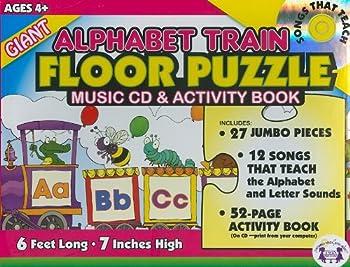 Giant Alphabet Train Floor Puzzle  Music Cd & Activity Book  Giant Floor Puzzle & Music Sets